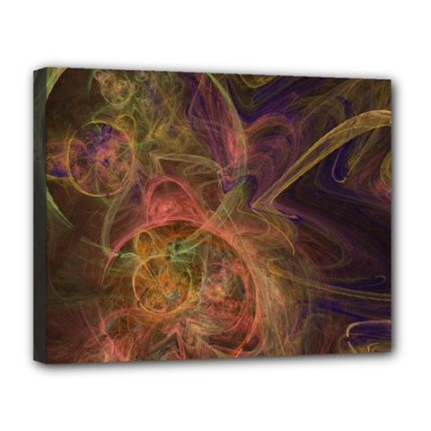 Abstract Colorful Art Design Canvas 14  X 11  (stretched)