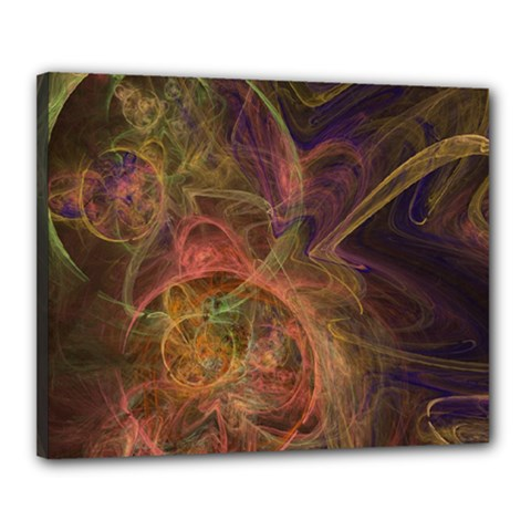 Abstract Colorful Art Design Canvas 20  X 16  (stretched)
