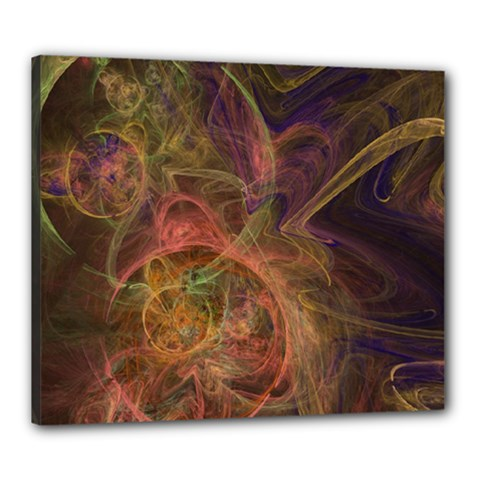 Abstract Colorful Art Design Canvas 24  X 20  (stretched)