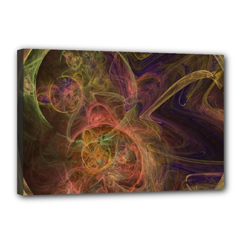Abstract Colorful Art Design Canvas 18  X 12  (stretched)