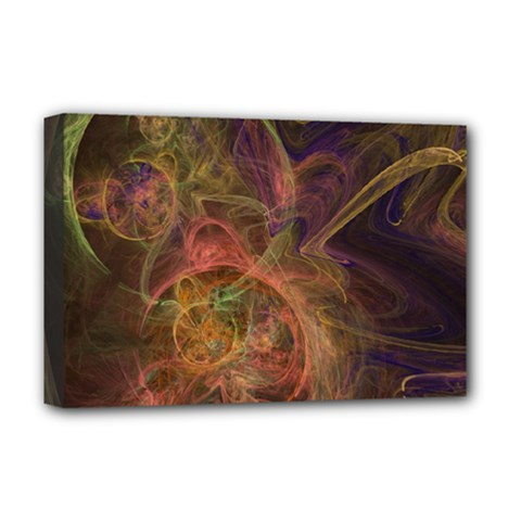 Abstract Colorful Art Design Deluxe Canvas 18  X 12  (stretched)