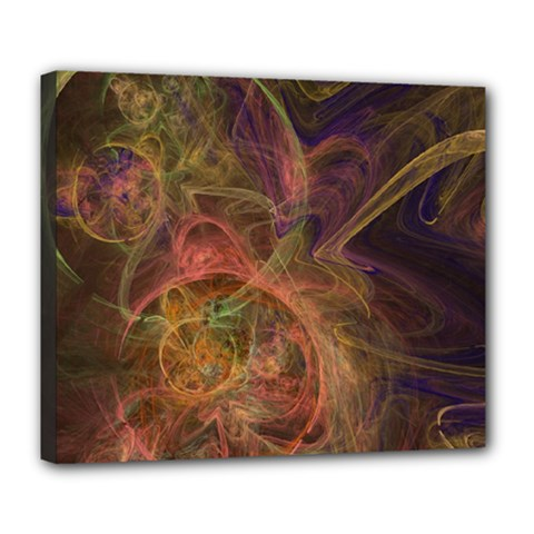 Abstract Colorful Art Design Deluxe Canvas 24  X 20  (stretched)