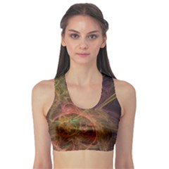 Abstract Colorful Art Design Sports Bra