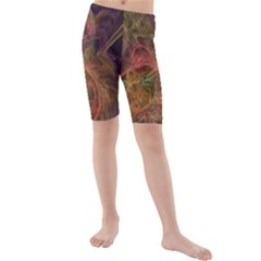 Abstract Colorful Art Design Kids  Mid Length Swim Shorts
