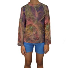 Abstract Colorful Art Design Kids  Long Sleeve Swimwear