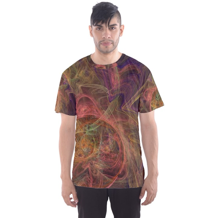 Abstract Colorful Art Design Men s Sports Mesh Tee