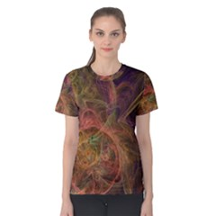 Abstract Colorful Art Design Women s Cotton Tee
