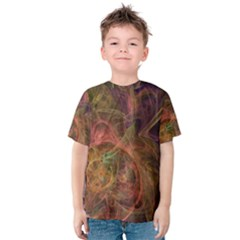 Abstract Colorful Art Design Kids  Cotton Tee