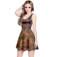 Abstract Colorful Art Design Reversible Sleeveless Dress