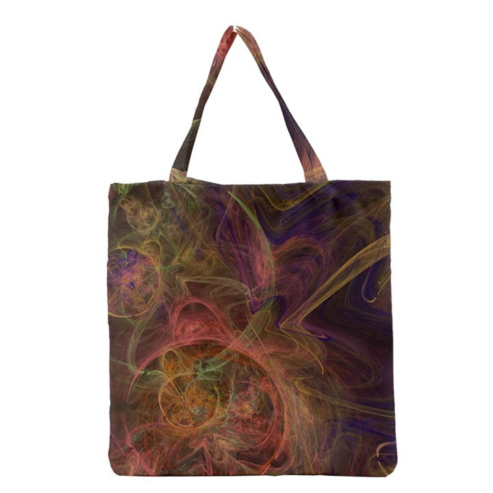 Abstract Colorful Art Design Grocery Tote Bag