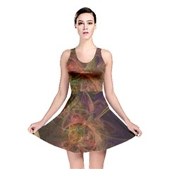 Abstract Colorful Art Design Reversible Skater Dress