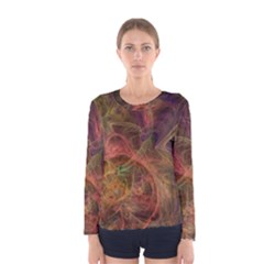Abstract Colorful Art Design Women s Long Sleeve Tee