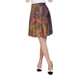 Abstract Colorful Art Design A Line Skirt
