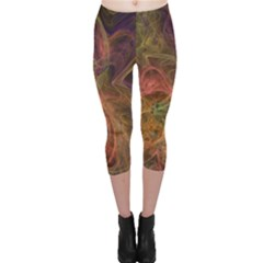 Abstract Colorful Art Design Capri Leggings