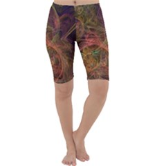 Abstract Colorful Art Design Cropped Leggings
