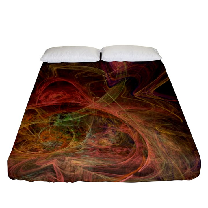 Abstract Colorful Art Design Fitted Sheet (Queen Size)