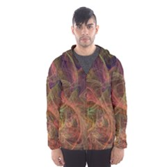 Abstract Colorful Art Design Hooded Windbreaker (men)