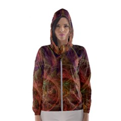 Abstract Colorful Art Design Hooded Windbreaker (women)