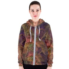 Abstract Colorful Art Design Women s Zipper Hoodie