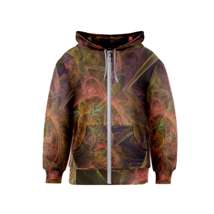 Abstract Colorful Art Design Kids  Zipper Hoodie