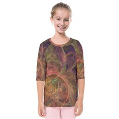 Abstract Colorful Art Design Kids  Quarter Sleeve Raglan Tee