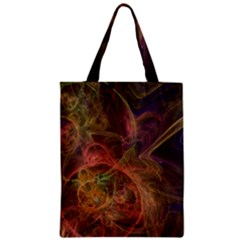 Abstract Colorful Art Design Zipper Classic Tote Bag