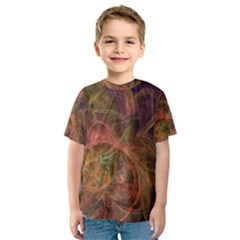Abstract Colorful Art Design Kids  Sport Mesh Tee