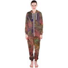 Abstract Colorful Art Design Hooded Jumpsuit (ladies)