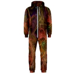 Abstract Colorful Art Design Hooded Jumpsuit (men)