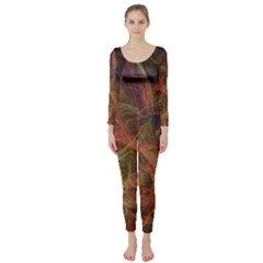 Abstract Colorful Art Design Long Sleeve Catsuit