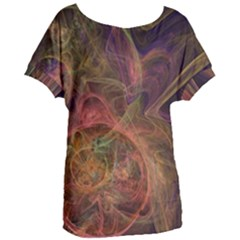 Abstract Colorful Art Design Women s Oversized Tee