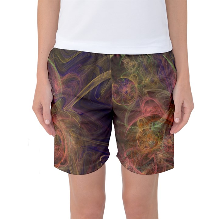 Abstract Colorful Art Design Women s Basketball Shorts