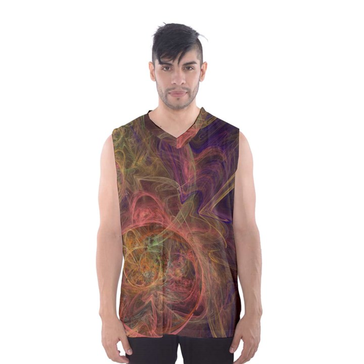 Abstract Colorful Art Design Men s Basketball Tank Top