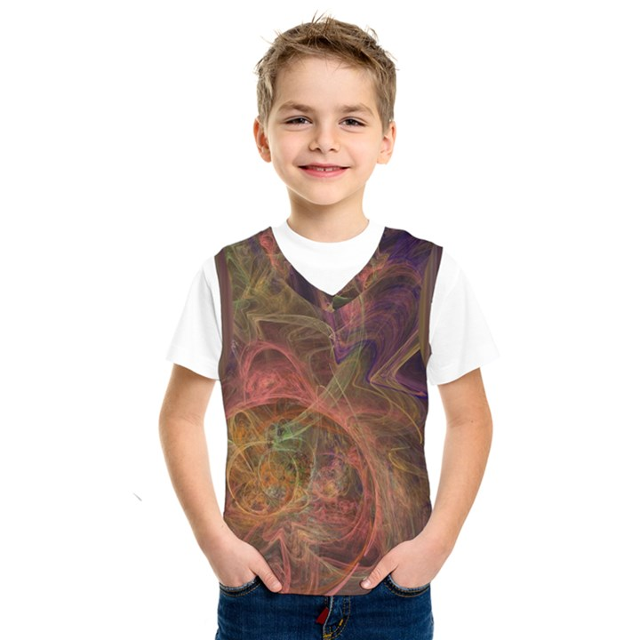 Abstract Colorful Art Design Kids  SportsWear