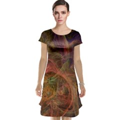 Abstract Colorful Art Design Cap Sleeve Nightdress