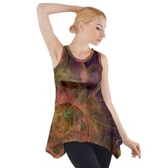 Abstract Colorful Art Design Side Drop Tank Tunic