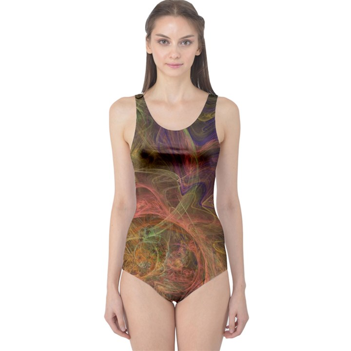 Abstract Colorful Art Design One Piece Swimsuit