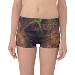 Abstract Colorful Art Design Reversible Boyleg Bikini Bottoms