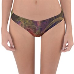 Abstract Colorful Art Design Reversible Hipster Bikini Bottoms