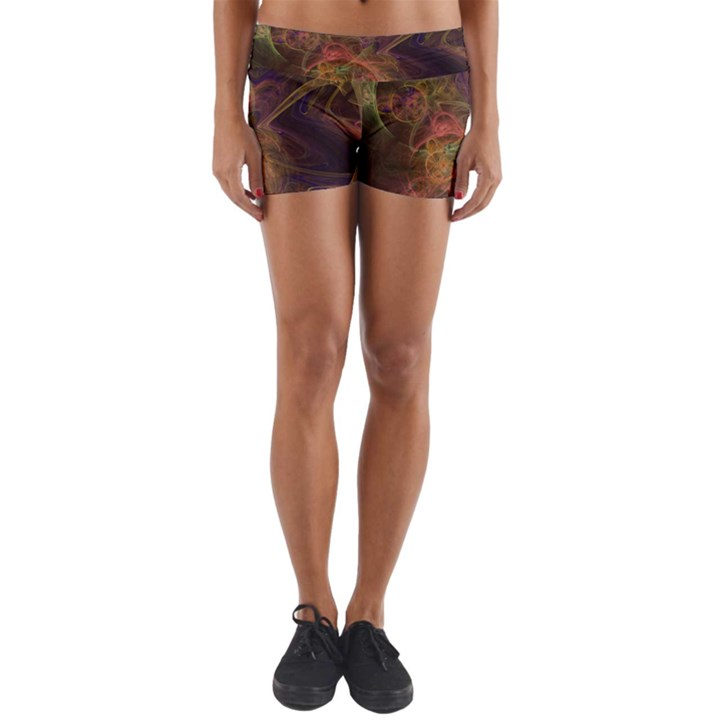 Abstract Colorful Art Design Yoga Shorts