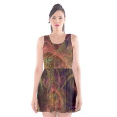Abstract Colorful Art Design Scoop Neck Skater Dress
