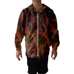 Abstract Colorful Art Design Hooded Windbreaker (kids)