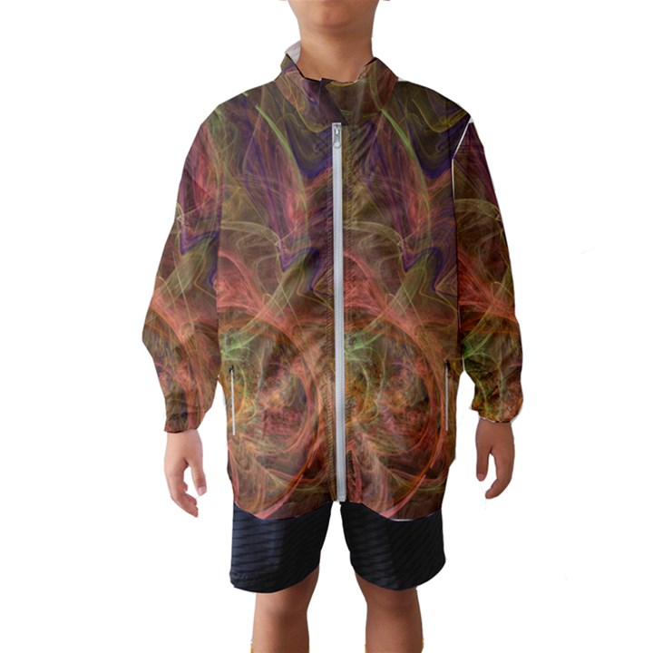 Abstract Colorful Art Design Windbreaker (Kids)