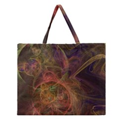 Abstract Colorful Art Design Zipper Large Tote Bag