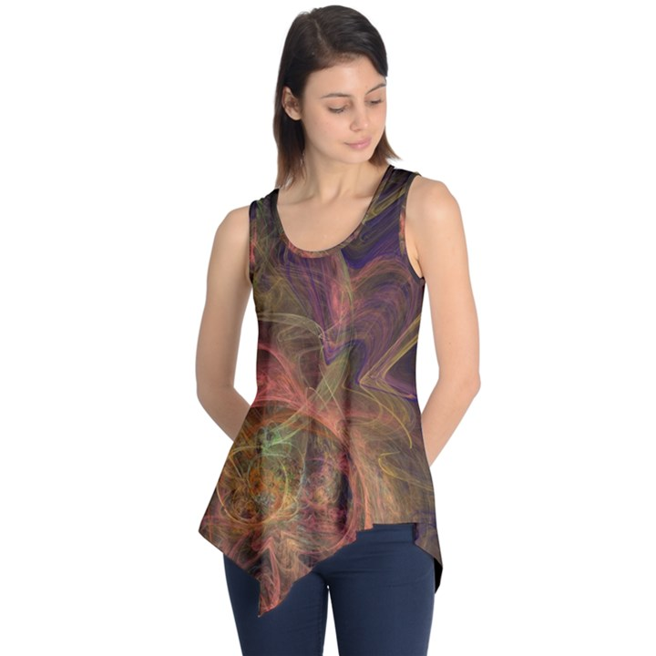 Abstract Colorful Art Design Sleeveless Tunic