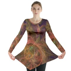 Abstract Colorful Art Design Long Sleeve Tunic