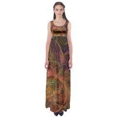 Abstract Colorful Art Design Empire Waist Maxi Dress