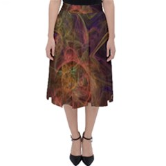 Abstract Colorful Art Design Classic Midi Skirt