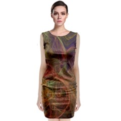 Abstract Colorful Art Design Classic Sleeveless Midi Dress