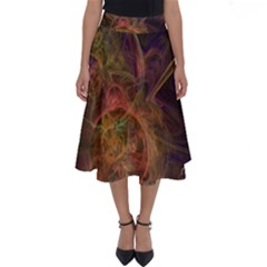 Abstract Colorful Art Design Perfect Length Midi Skirt